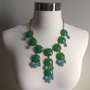 Joan Rivers Green and Blue Statement Necklace